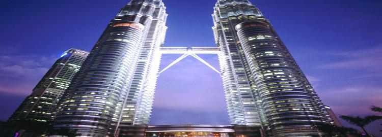Night Scene Petronas Twin Tower - Kuala Lumpur City Centre